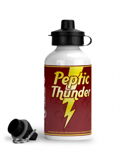 Mortal Kombat Inspired Peptic Thunder Aluminium Sports Water Bottle